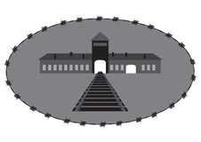 Vector concentration camp Royalty Free Stock Photos