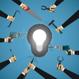 Vector concept of abstract collective idea development Stock Image