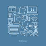 Vector concept - blogging and writing for website Stock Photography