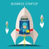 Vector concept of business startup Stock Image
