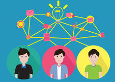 Vector Concept Business teamwork. Teamwork Business Help them succeed Royalty Free Stock Image