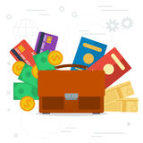 Vector concept business trip Royalty Free Stock Photography