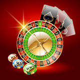 Vector concept of card for chic casino Royalty Free Stock Photo