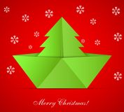 Vector concept of the Christmas tree Stock Photography