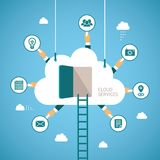 Vector concept of cloud services Stock Photo