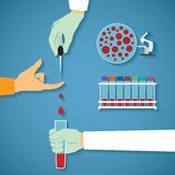 Vector concept of common blood tests Royalty Free Stock Images