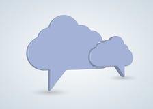 Vector concept computer cloud with bubble speech Stock Photos