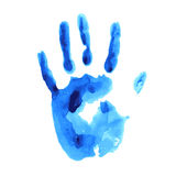 Vector concept or conceptual cute paint human hand of child isolated on white background for art. royalty free illustration
