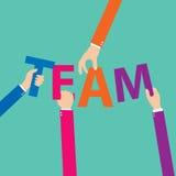 Vector concept of creative teamwork. Flat design. Vector illustration. EPS 10 vector illustration