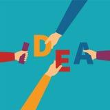 Vector concept of creative teamwork Royalty Free Stock Photo