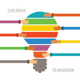 Vector concept of creative teamwork Royalty Free Stock Photo