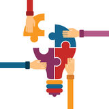 Vector concept of creative teamwork Royalty Free Stock Images
