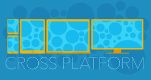 Vector concept of cross platform stock illustration