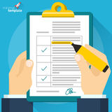 Vector concept for data form. Royalty Free Stock Photography