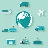 Vector Concept delivery Stock Images