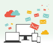 Vector Concept Email Marketing Design Royalty Free Stock Images