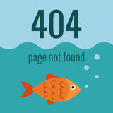 Vector concept 404 error. Illustration for 404 page not found. Flat design 404 page. Template for 404 error page not found. Illustration of aquarium with fish Royalty Free Stock Photo