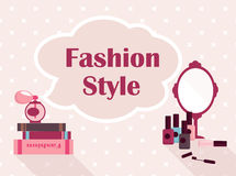 Vector concept of fashion make-up. Flat design vector illustration concept of fashion make-up Royalty Free Stock Photos