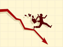 Vector concept of financial crisis Stock Images
