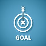Vector concept of goal or target achievement with dart arrow Royalty Free Stock Photo