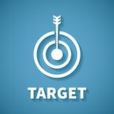 Vector concept of goal or target achievement with dart arrow Stock Photos