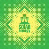 Vector concept of green energy with solar panels Royalty Free Stock Photo