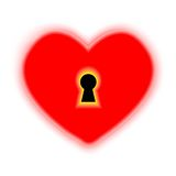 Vector concept heart with keyhole Stock Images