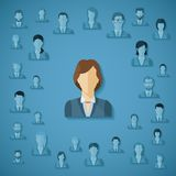 Vector concept of human resources management. Royalty Free Stock Images