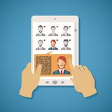 Vector concept of human resources management. Royalty Free Stock Photo