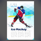Vector concept of ice hockey player Royalty Free Stock Images