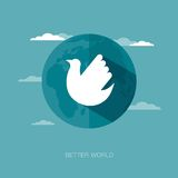 Vector concept illustration of better world Stock Images