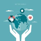 Vector concept illustration of better world Royalty Free Stock Photo