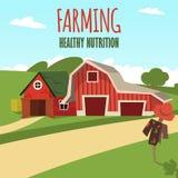 Vector concept image farming rural landscape stock illustration
