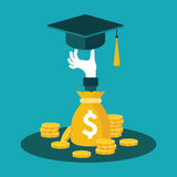 Vector concept of investment in education Stock Photo