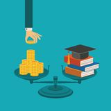Vector concept of investment in education Royalty Free Stock Photos