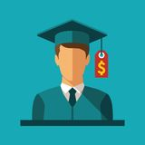 Vector concept of investment in education Royalty Free Stock Images