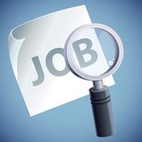 Vector concept  - job searching Royalty Free Stock Photography