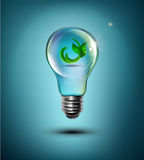 Vector concept (light bulb with the germ inside) Royalty Free Stock Images