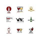 Vector concept logo for bar, restaurant menu Stock Photos