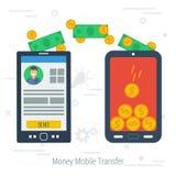 Vector concept mobile money transfering Royalty Free Stock Photo