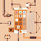 Vector concept of mobile software application development process Stock Photography