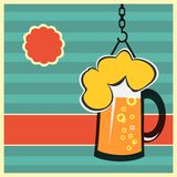 Vector concept with mug of beer eps Royalty Free Stock Photos