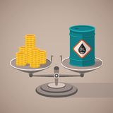 Vector concept of oil industry pricing and costs Stock Images