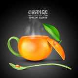 Vector concept orange teapot Royalty Free Stock Photo