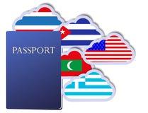 Vector concept of the passport Royalty Free Stock Photos