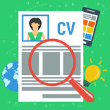 Vector concept personal resume Royalty Free Stock Image