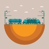 Vector concept of railway transport system Royalty Free Stock Photos