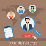 Vector concept searching employees Royalty Free Stock Photo