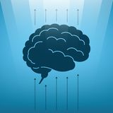 Vector concept of soaring human brain Royalty Free Stock Photography