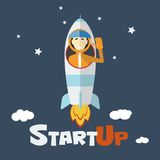 Vector concept of start up new business Royalty Free Stock Images